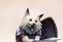 dog fan art / Dogs r derpy