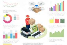 Isometric and infographic vector illustration