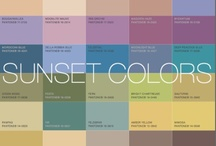 Colour analysis - Color time. Sunset.