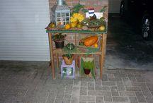Leuke foto's van zelf gemaakte dingen / Hier staan foto's  zoals mijn zelf gemaakte herfst tafel.
