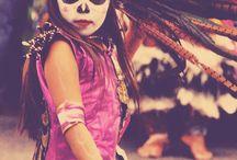 dia de los muertos style / mexican folk art inspired / by sewzinski