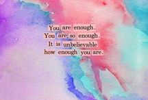 One Word: Enough / by Brenda Wilkerson