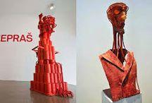Karel Nepraš / Karel Nepraš (April 2, 1932 - April 5, 2002) was a significant Czech sculptor, draftsman, printmaker, professor at the Academy of Fine Arts in Prague.