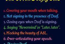 Deaf courtesy