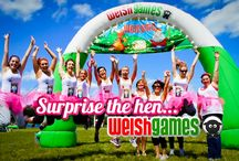 Cardiff Hen Weekend / This board is dedicated to Welsh Games Hen Weekend images. Welsh Games are based near Cardiff.  The perfect activity for any Hen Do.