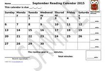 Editable Dated Classroom Reading Calendars / There are 12 reading calendars ready to use in your classroom.  They are editable and dated - September 2015 - August 2016.