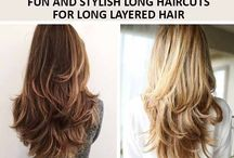Long layered hair