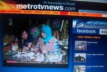 LANIE and METRO TV / Shooting MELUKIS TANPA BATAS