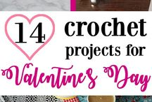 Crochet | Valentine's Day / Valentine crochet patterns Valentine's pattern heart rose chocolate chocolates pattern