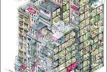 Kowloon art / La ya desaparecida y claustrofóbica ciudad de Kowloon (Hong Kong) ha suscitado el interés de numerosos artistas entre los que me encuentro.