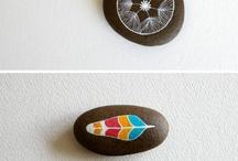 Přírodniny, obrázky na kamenech / malba na kameny