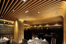 Acoustic design with slats / Acoustic design of restaurants and hotels with slats