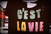 CAMISETAS con frases / Frases o palabras confeccionadas en tela o pintadas en nuestras camisetas... www.facebook.com/Saison.camisetas / by SAISON