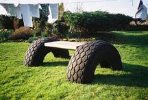 zahradní lavička