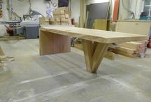 Wooden tables etcetc.