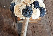 wedding navy blue and gold