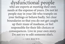 Dysfunctional People & Familes