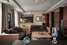 Contemporary Chic / Russian architectural and interior design firm OLStudio completed the interior of this 1,937 square foot apartment in the heart of Moscow, Russia.