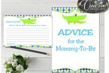 Baby Shower Boy Alligator Blue Green Dots Games, Invitations, Decorations and more... / Hi, thank you for visiting this beautiful baby shower board with alligator blue green theme. Here you can find a lot of blue baby alligator decorations and activities with over 40 listings per theme.
