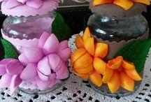 flores Eva porta pano