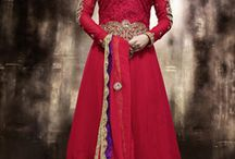 Soha Ali Khan designer Salwar kameez / Gorgeous Tomato Georgette Red Anarkali Suit with Pure Chiffon Dupatta with lace work having Thread & Zari Embroidery also full sleeves & bottom ghera it's a party & ocassion wear.      To buy this collection contact us on  : Our website : http://highlifefashion.com/ For retail purchase What's App : 9594002709 / 9930928622 / 9821925564 for bulk purchase email us on : info@highlifefashion.com