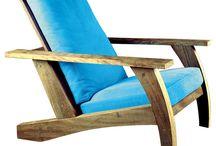 Fauteuils chaises bois