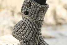 Crochet/Knitted Boot Slippers