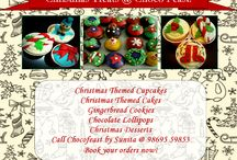 Christmas Treats! / Desserts for Christmas :D  Call us in Mumbai at 98695 59853 for more details