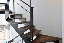 鉄骨デザイン階段
