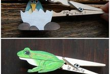 clothespin creatures