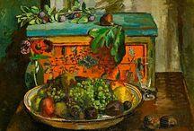 Vanessa Bell / Née Stephen (1879 - 1981), peintre et décoratrice d'intérieur. Son chef d'oeuvre : la ferme de Charleston, dans le Sussex, qu'elle à décorée avec Grant.