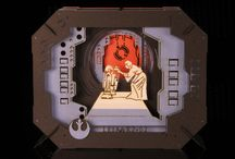 Ensky and Tenugui Star Wars / Ensky Star Wars Paper Theaters including Leia, R2-D2 and Darth Vader's helmet.   Tenugui Star Wars posters.  Not good enough?  Then lets share some Vader Helmet toast.