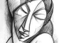 Dibujos / Dibujos y apuntes al natural realizados en diversas técnicas (Lápiz, bolígrafo, carboncillo, acuarela ..)