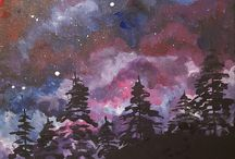 Oil & Acrylic - Night