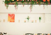 Suspended wedding and event flowers