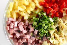 Hawaian pasta salad