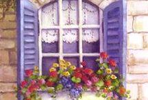 Окна, арки, двери в цветах