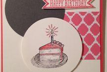 DIY Birthday Cards / Stampin' Up Birthday Cards, Easy to make DIY Birthday Cards