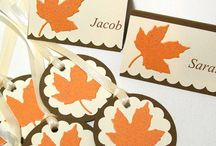 Cards: Fall Theme / Handmade cards for Fall and Thanksgiving