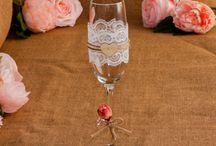 Svadobné poháre od Fiores / Kvalitná ručná práca od Fiores. Sklenené svadobné poháre.