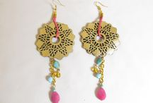 Laser cut leather earrings / This is a collection of earrings, made with laser cut leather filigrees and beads.