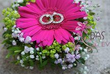 porte alliances fleuri