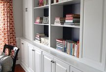Home - Basement Bookcases / by Virginia Anne