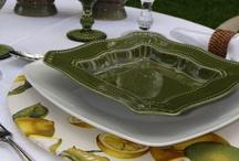 Capa de Sousplat de limão siciliano / Tecido com desenhos de limão siciliano