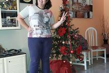 Yo con el árbol navideño.