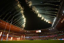Rugby World Cup Opening and Closing Ceremonies / Titanium Fireworks were delighted to work with Donaldson Creative to deliver the roof pyrotechnics for the opening and closing ceremonies in 2015