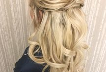 half up bridesmaid hair