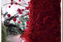 albero di Natale con lana