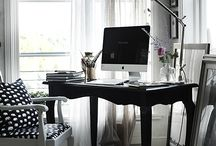 Työhuone,  / Hyvin sisustettuja työpisteitä ja ideoita.
