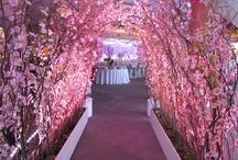 Japanese blossom wedding